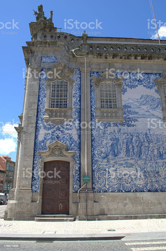 Church with blue tiles royalty-free stock photo