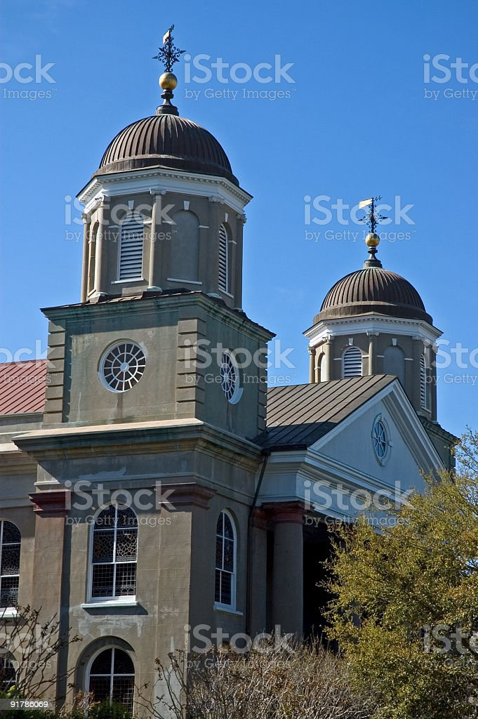 Church With Double Domed Roof royalty-free stock photo