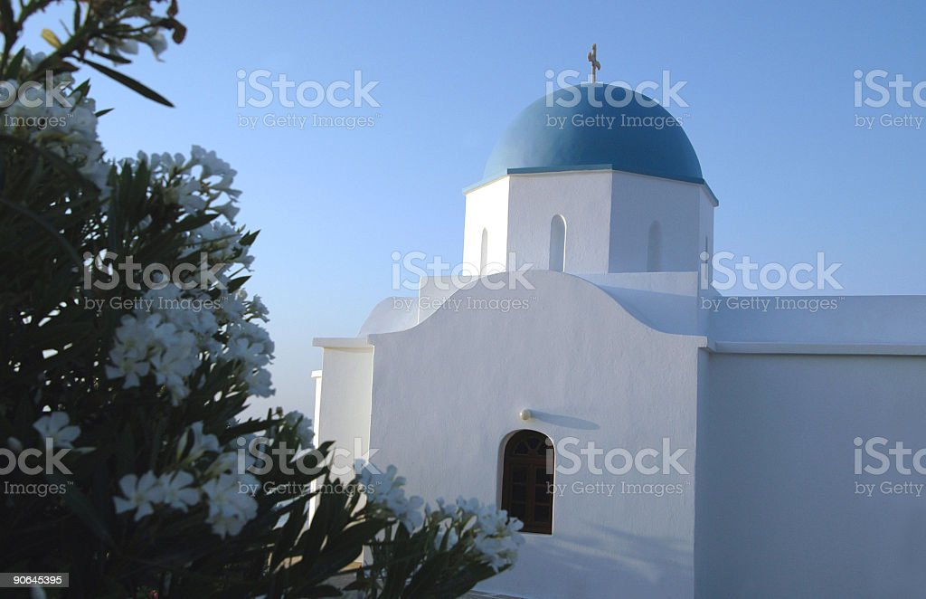 church   with flowers royalty-free stock photo