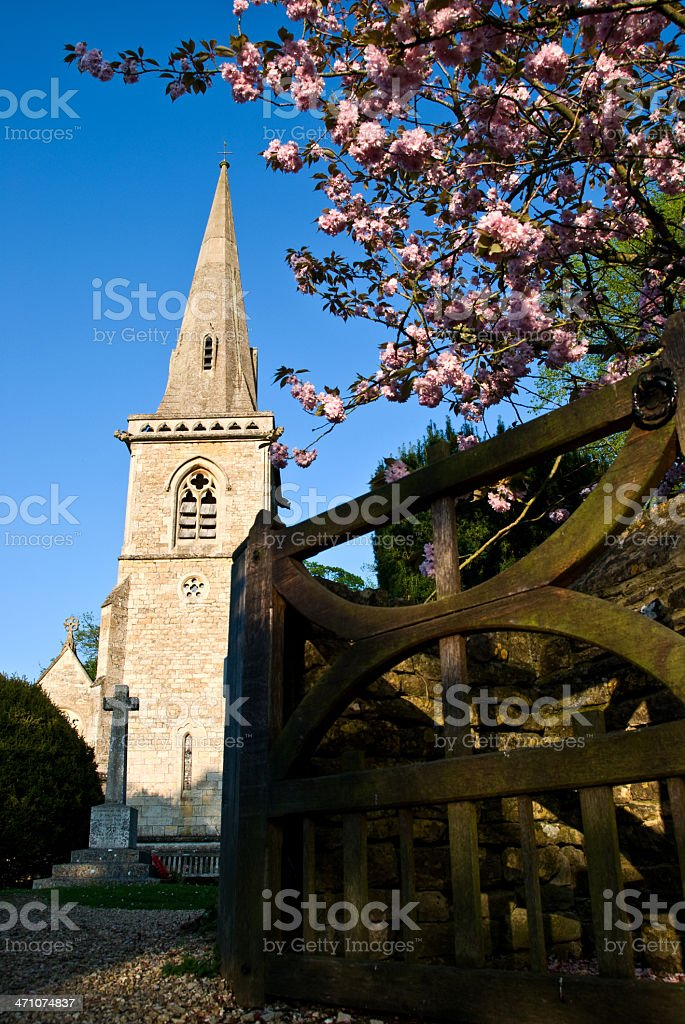 Church with Spire royalty-free stock photo