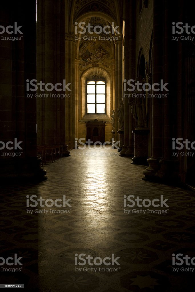 Church with Sunlight Shining Through Window. Color Image royalty-free stock photo