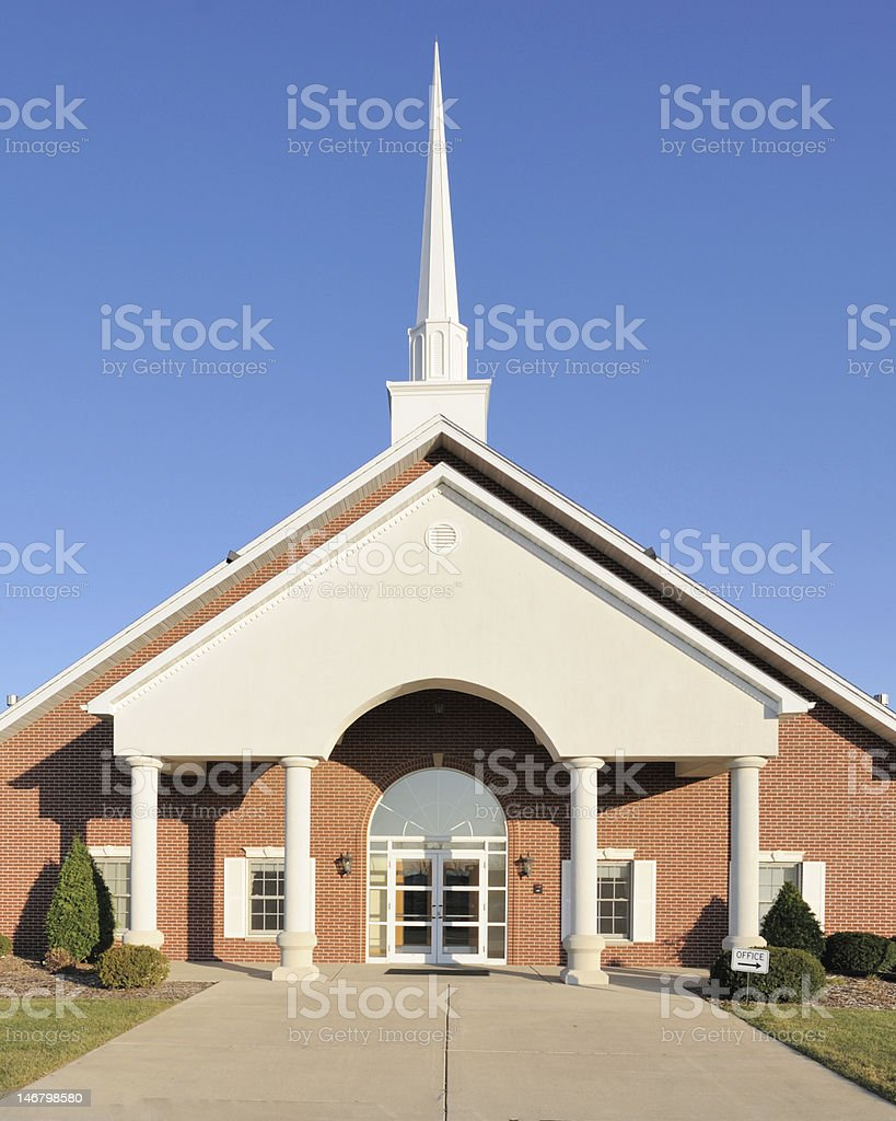 Church with Tall Steeple royalty-free stock photo