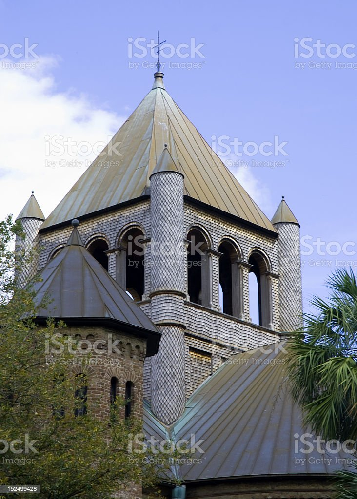 Church With Unique Roofs royalty-free stock photo
