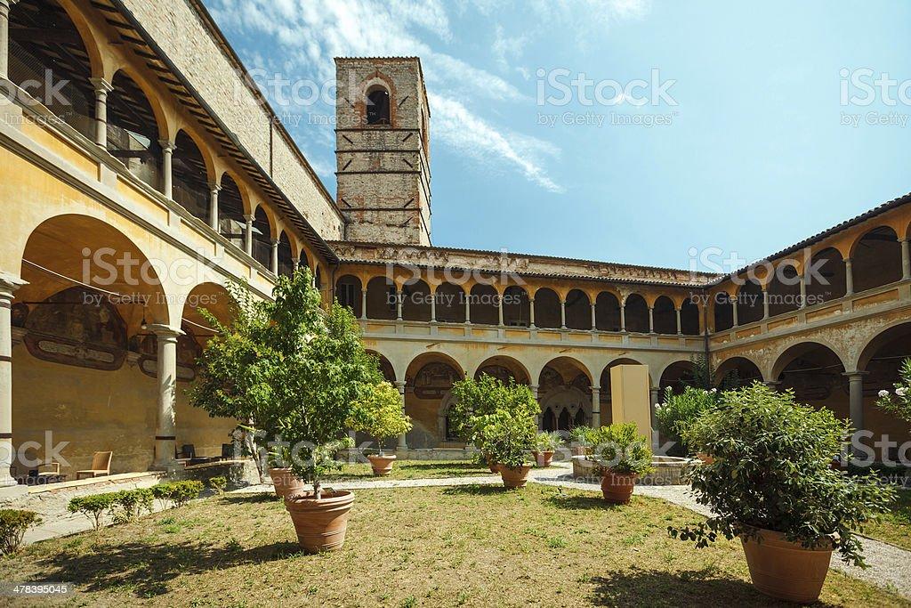 Church yard, Città di Castello, Italy royalty-free stock photo