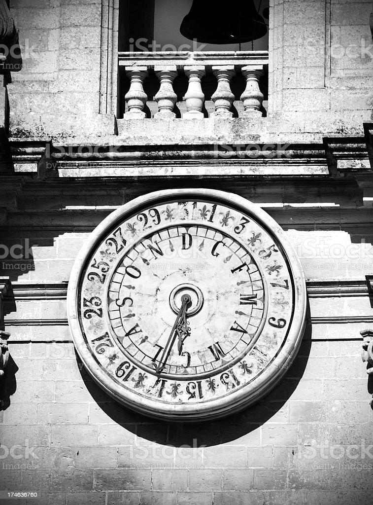 Church-clock Closeup stock photo