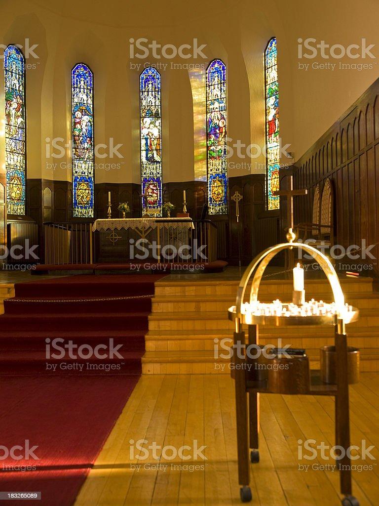 Churche in Akureyri royalty-free stock photo