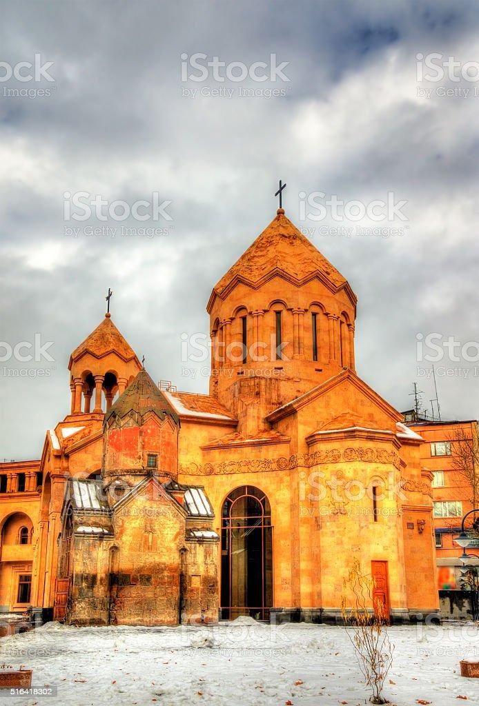 Churche of Sain Anna in Yerevan stock photo
