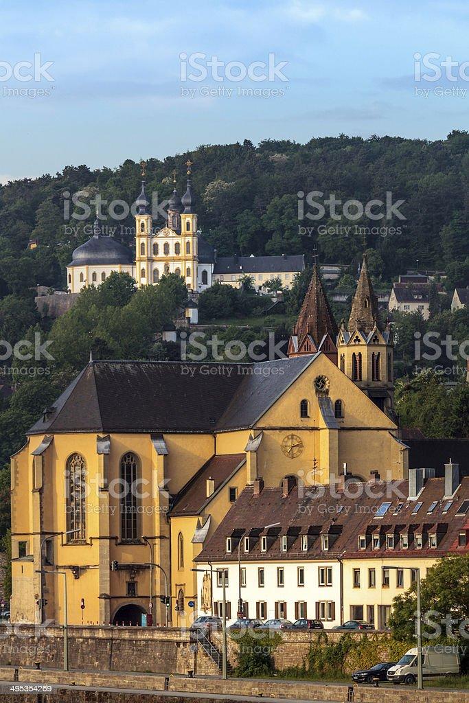 Kirchen von Würzburg Lizenzfreies stock-foto