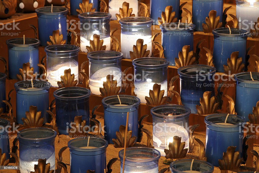 Churches - Devotional Candles royalty-free stock photo