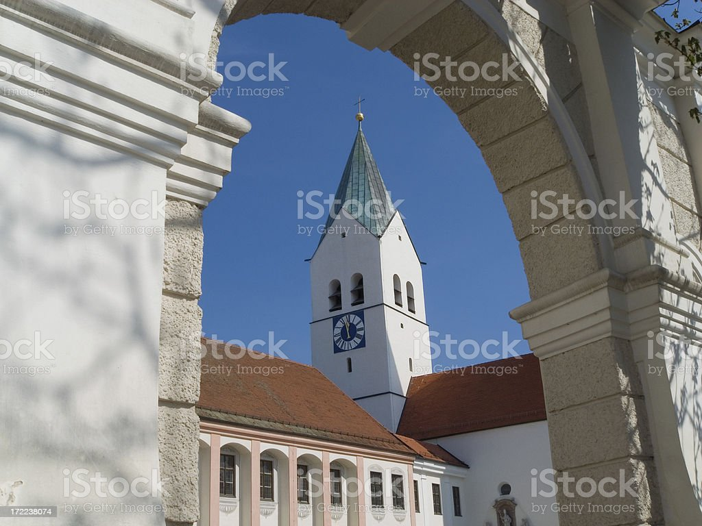 Churches in Bavaria: St. Mary's Cathedral,  Freising royalty-free stock photo