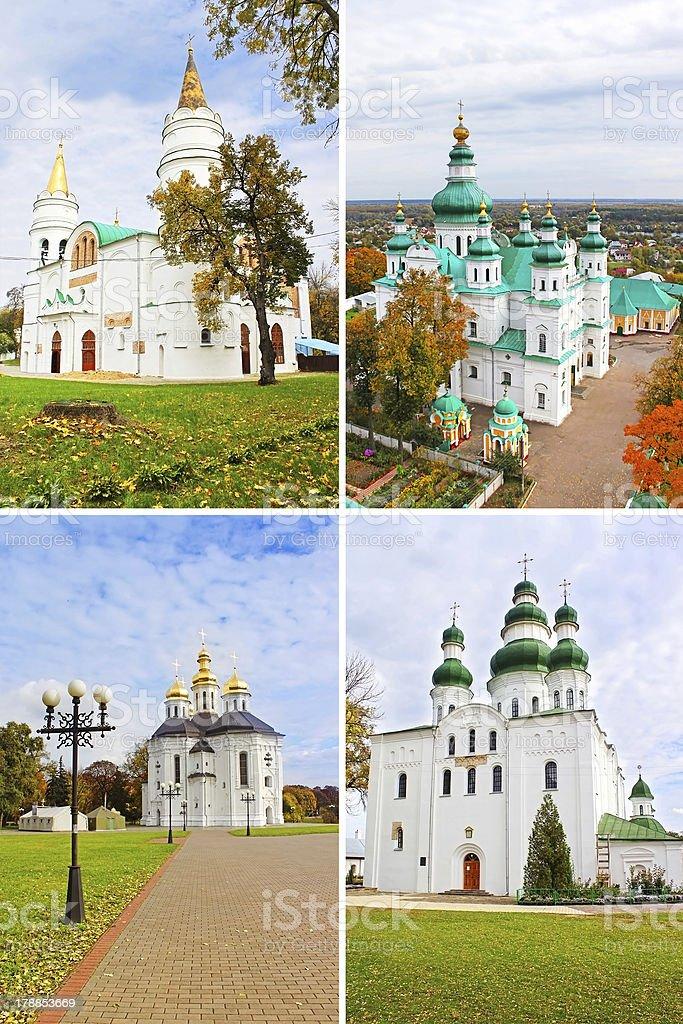 Churches in Chernigiv, Ukraine stock photo