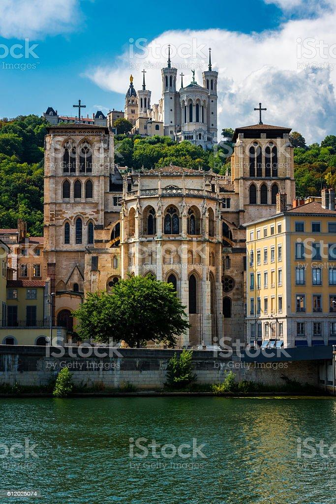 churches in Lyon stock photo