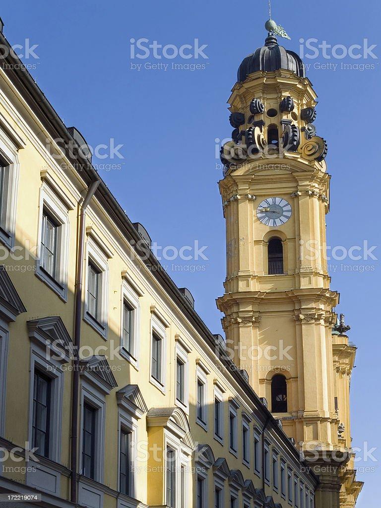 Churches in Munich: St. Kajetan(Theatiner church) royalty-free stock photo