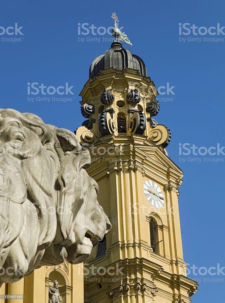 Churches in Munich - St Kajetan (Theatinerkirche) royalty-free stock photo