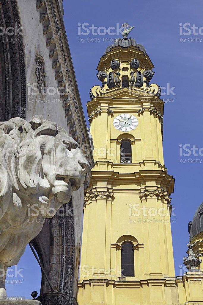 Churches in Munich: St. Kajetan (Theatinerkirche) royalty-free stock photo