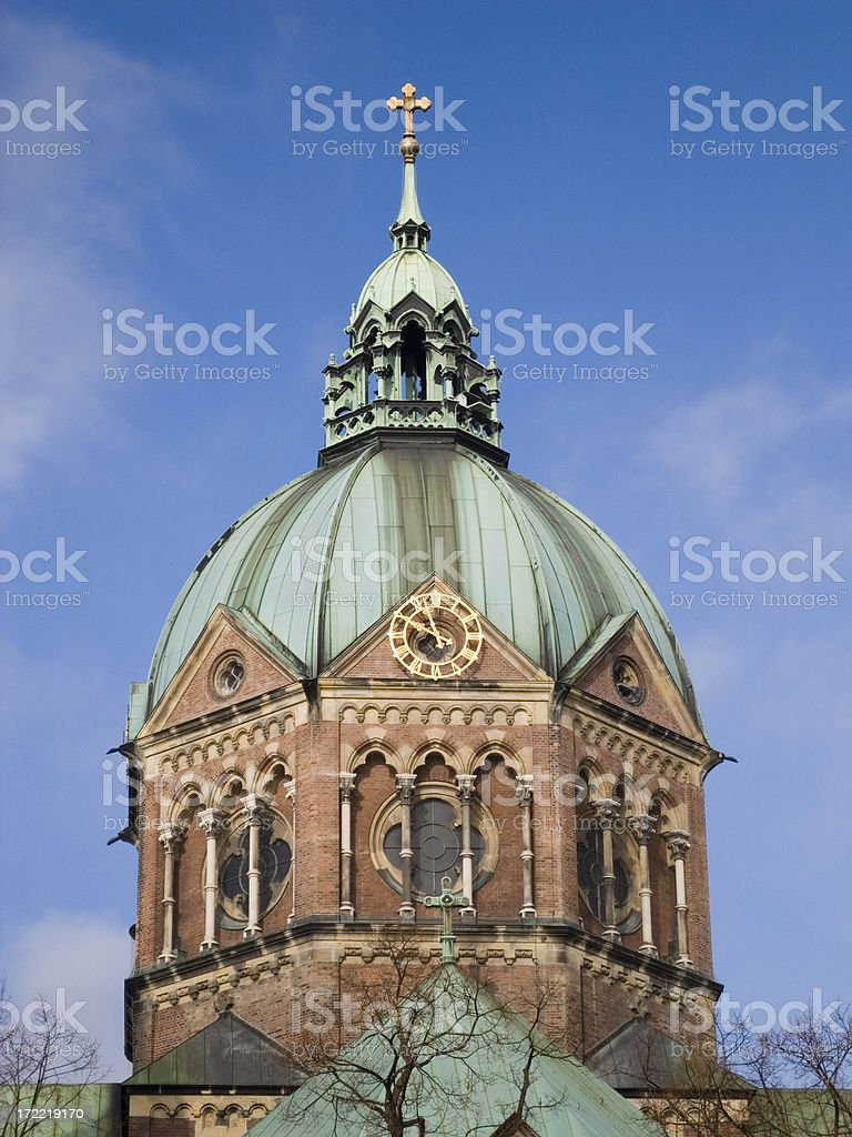 Churches in Munich: St. Lukas royalty-free stock photo