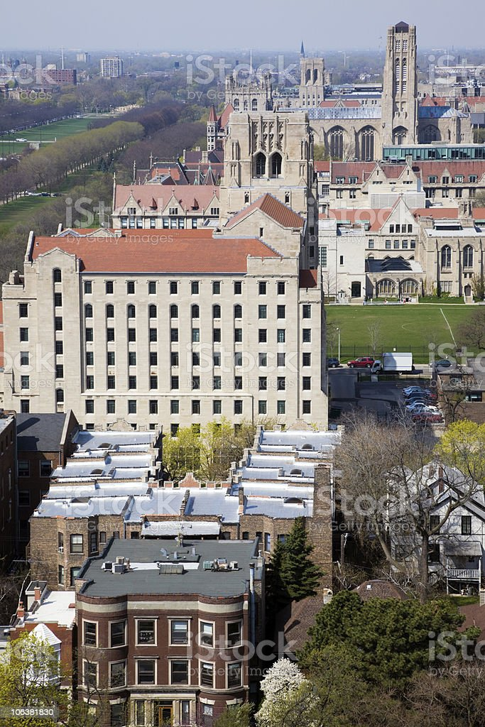 Churches in University of Chicago area. stock photo