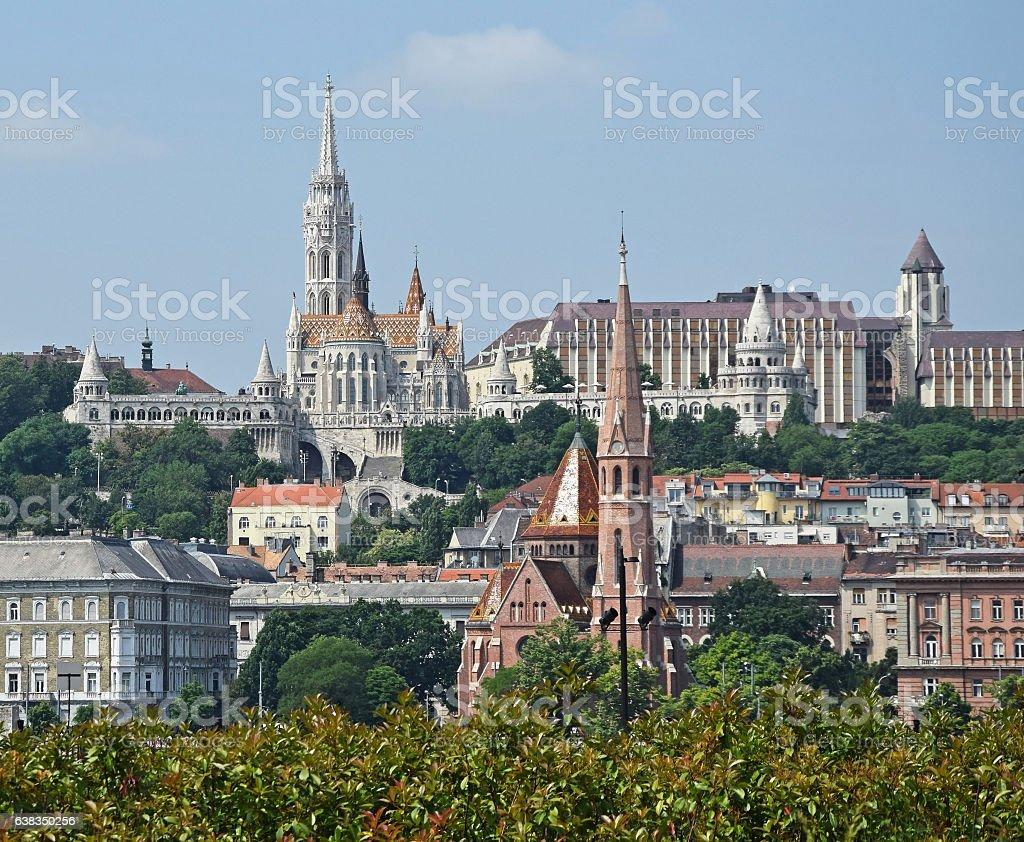 Churches of Budapest, Hungary stock photo