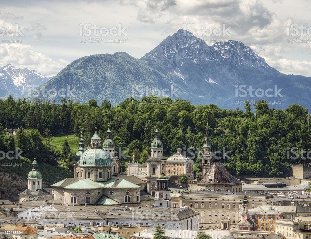 Churches of Salzburg royalty-free stock photo