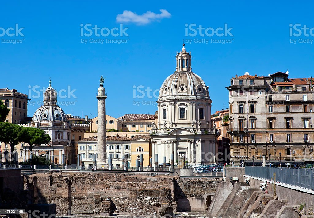 churches of Santa Maria di Loreto and Santissima Nome stock photo