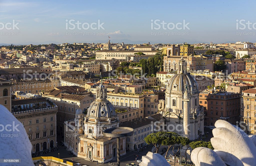 Churches Santa Maria di Loreto and Santissimo Nome di Maria stock photo