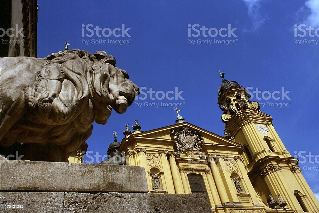 Churches: St. Kajetan ( Theatinerkirche ) in Munich. royalty-free stock photo