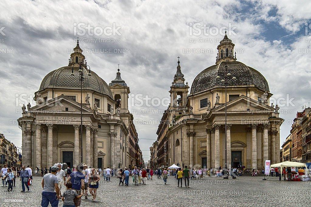 churches  twin stock photo