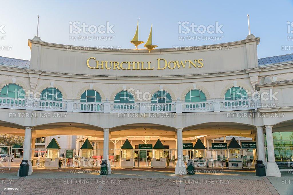 Churchill Downs Entrance - Kentucky Derby stock photo