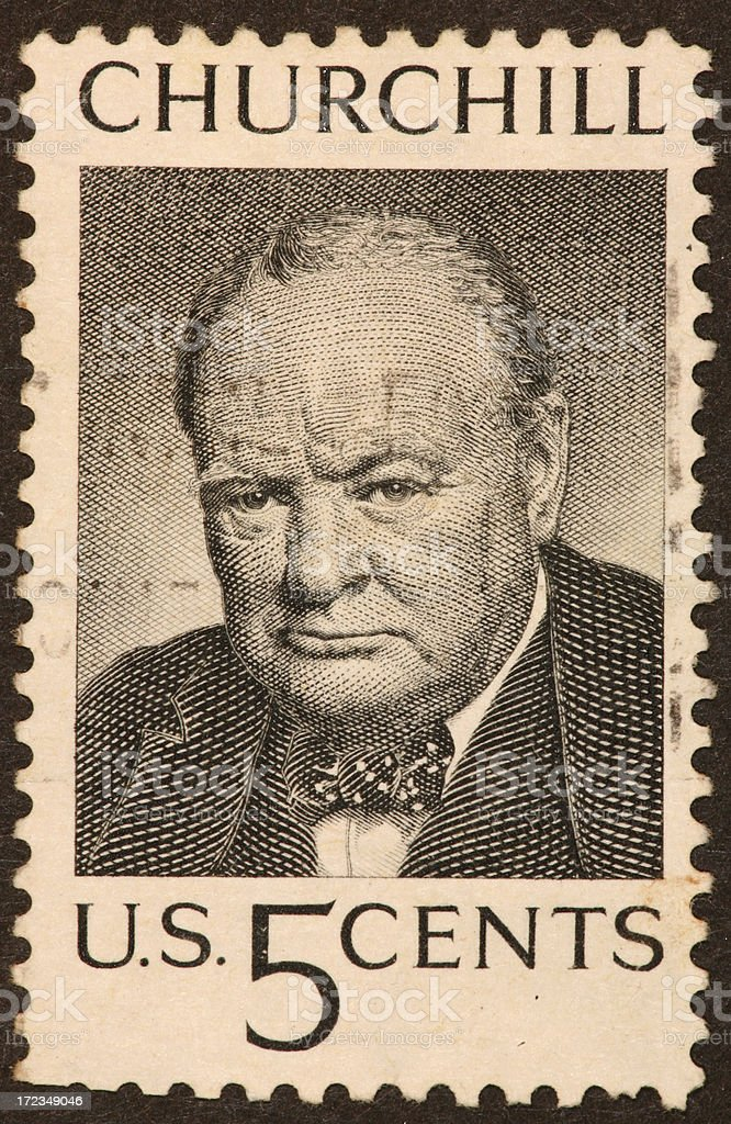 Churchill postage stamp stock photo