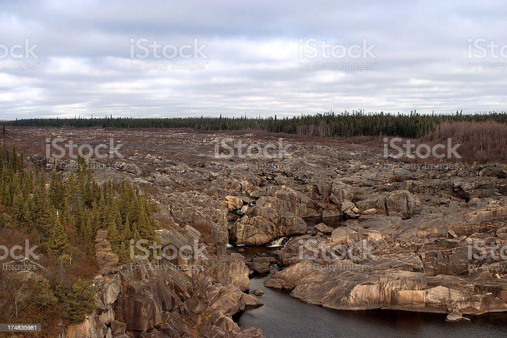 Churchill River Bed stock photo