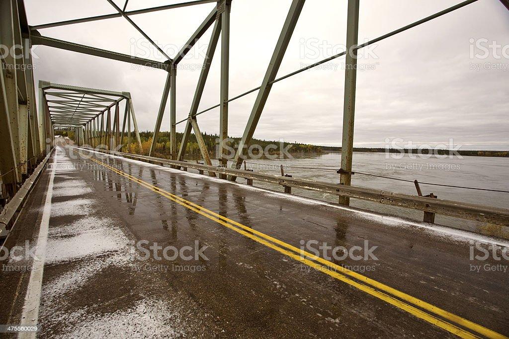 Churchill River Bridge Northern Manitoba stock photo