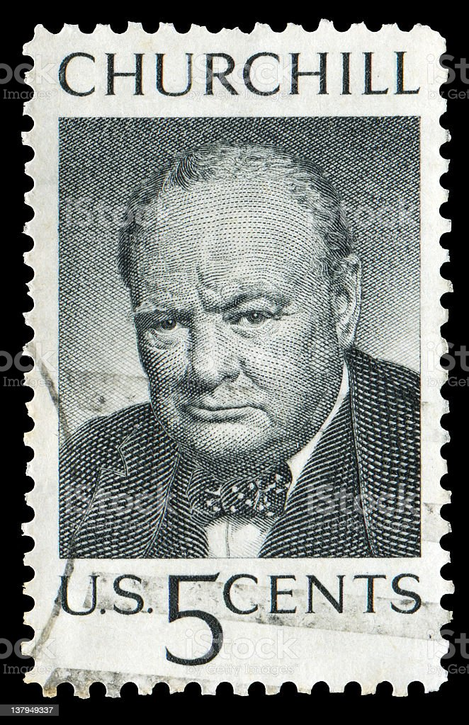 churchill stamp stock photo