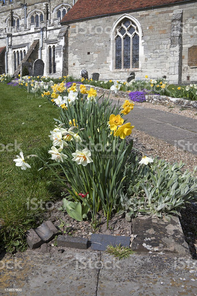 churchyard royalty-free stock photo