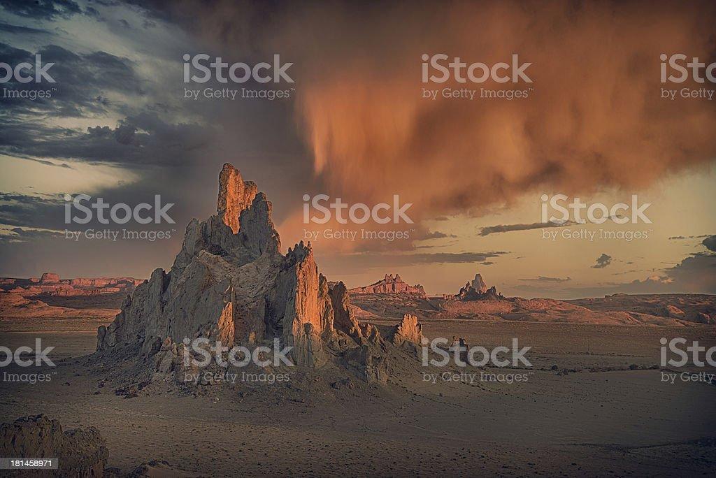Churh Rock At Sunrise royalty-free stock photo