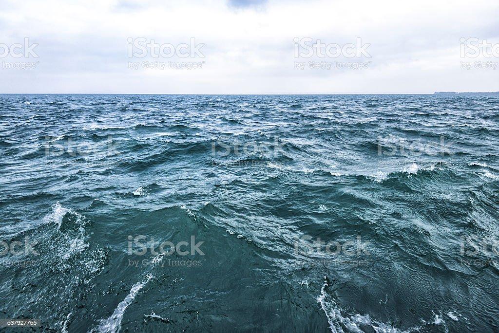 churning water surface stock photo