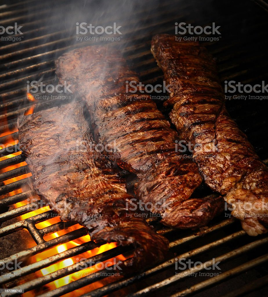 Churrasco in the Grill stock photo