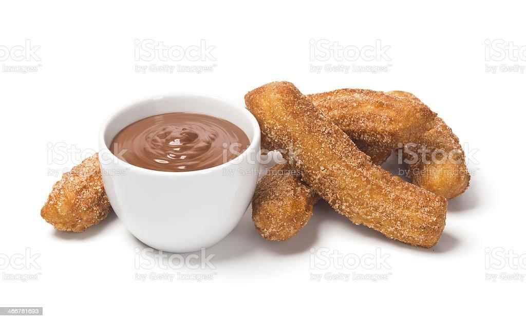 Churros and Chocolate stock photo