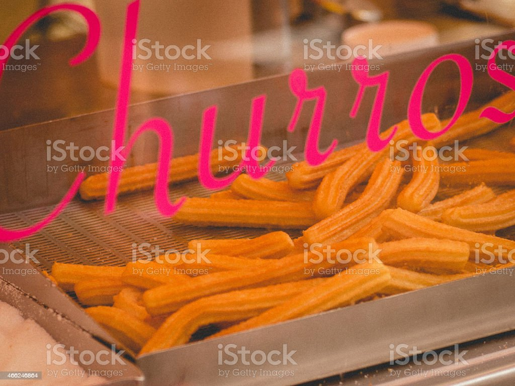'Churros' cook stock photo