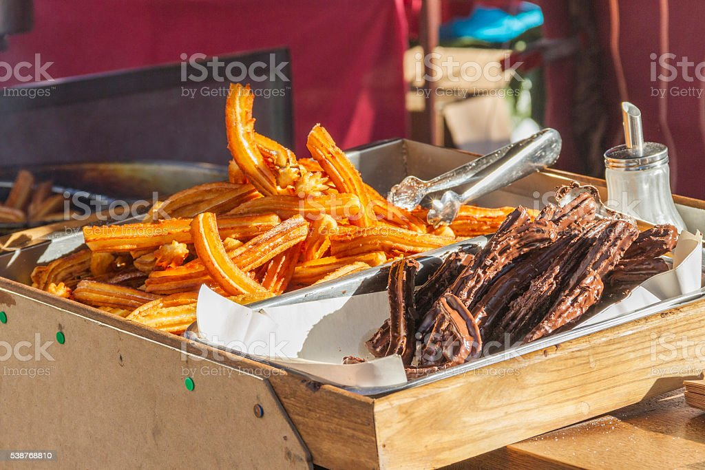 Churros for sale stock photo