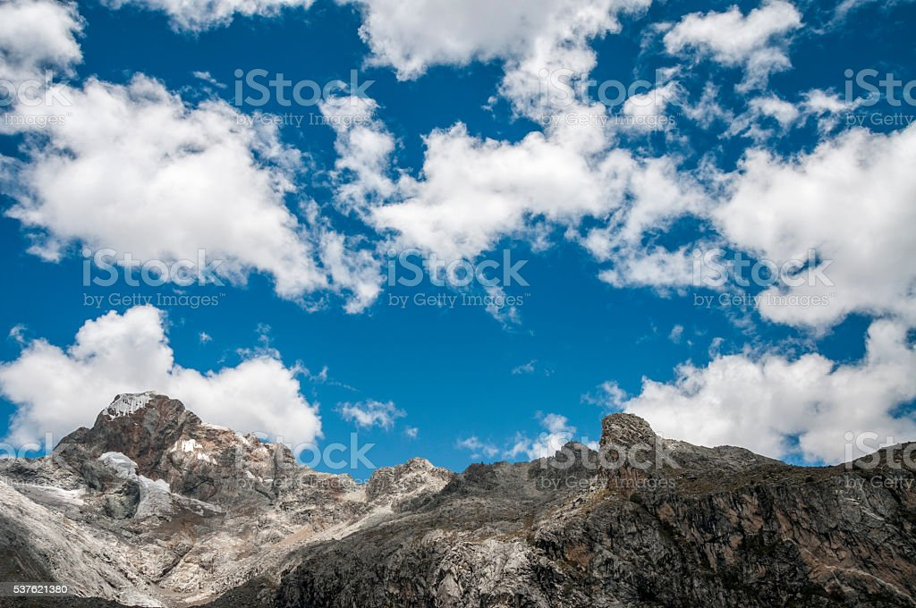 Churup Mountain In The Andes, Peru stock photo
