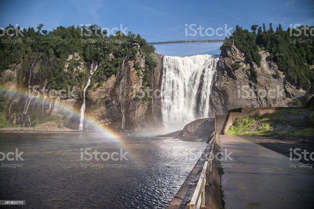 Chute Montmorency Waterfalls stock photo