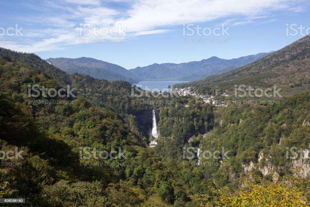 Chuzen-ji Lake and Kegon-no-taki Falls,Nikko,Tochigi,Japan stock photo