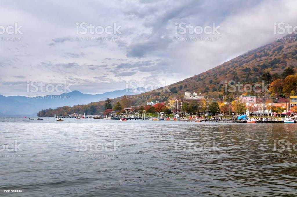 Chuzenji lake in Nikko stock photo