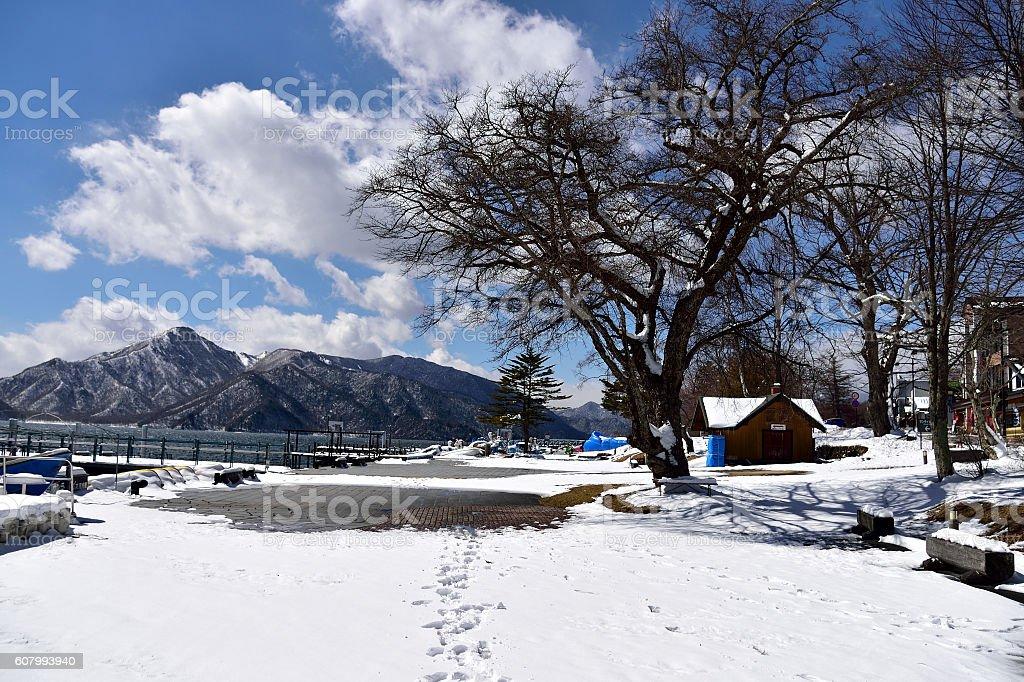 Chuzenji Lake stock photo