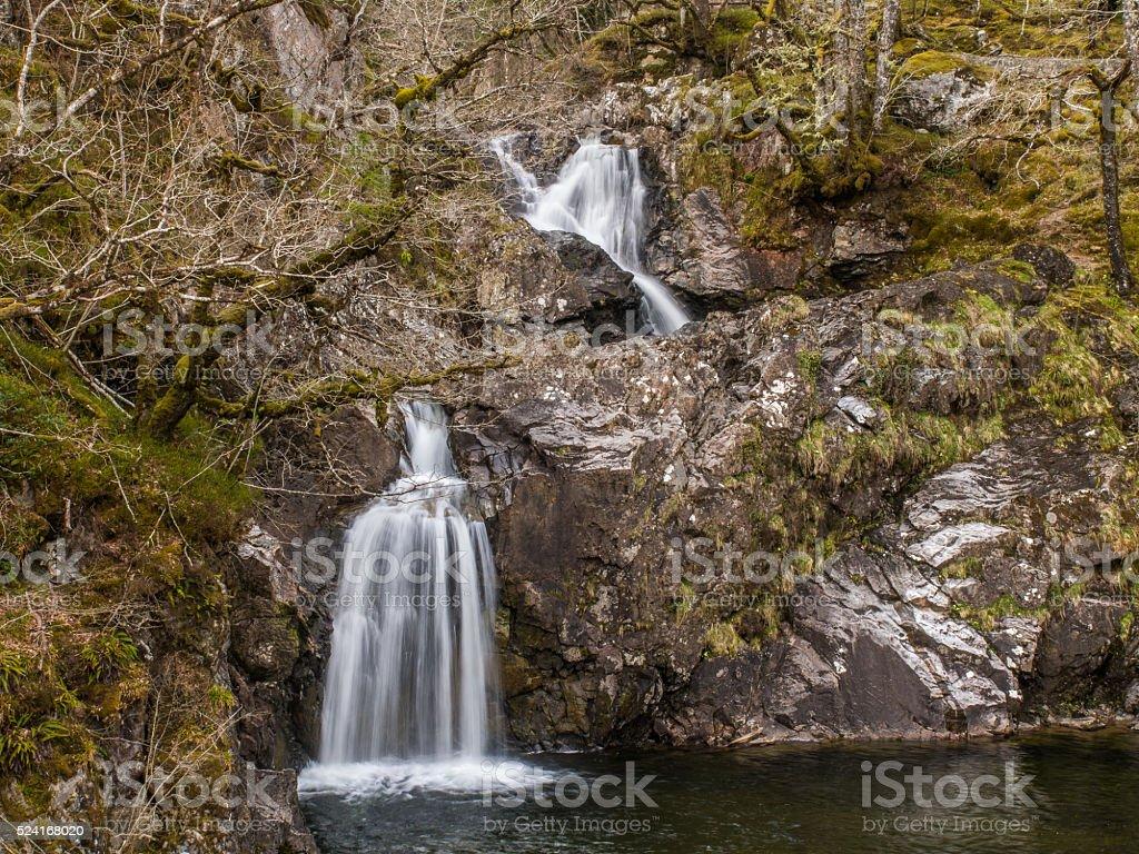 Cia-Aig Waterfall, Achnacarry, Scotland stock photo