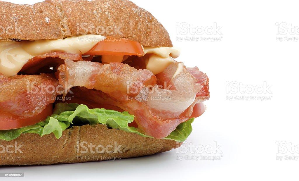 Ciabatta Bacon Sandwich royalty-free stock photo