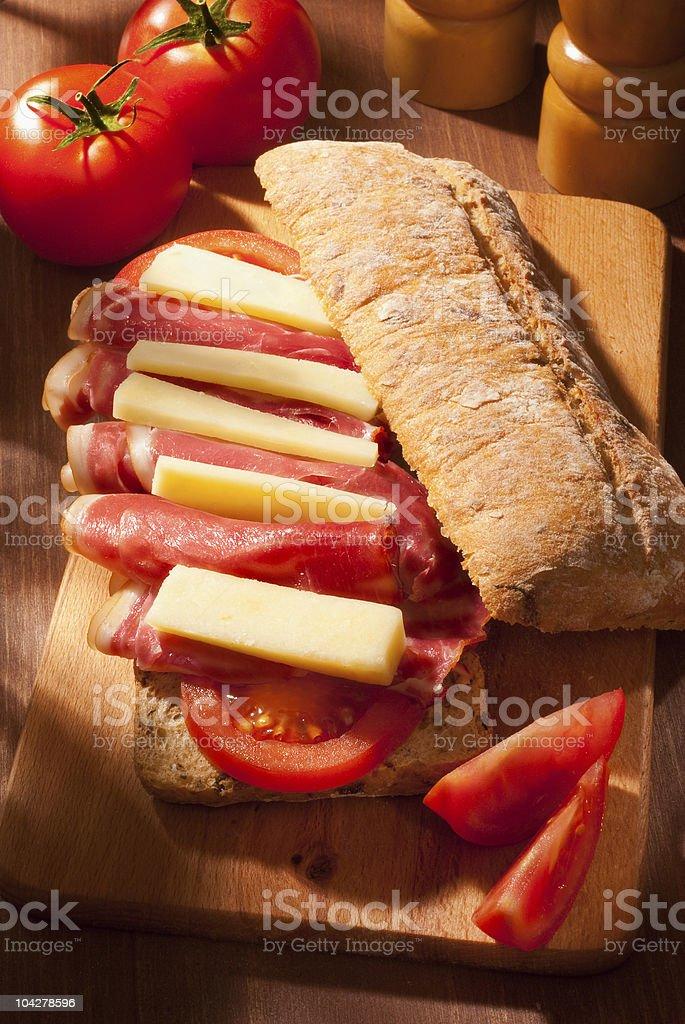 ciabatta sandwich royalty-free stock photo
