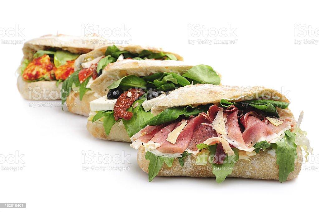 Ciabatta Sandwiches royalty-free stock photo