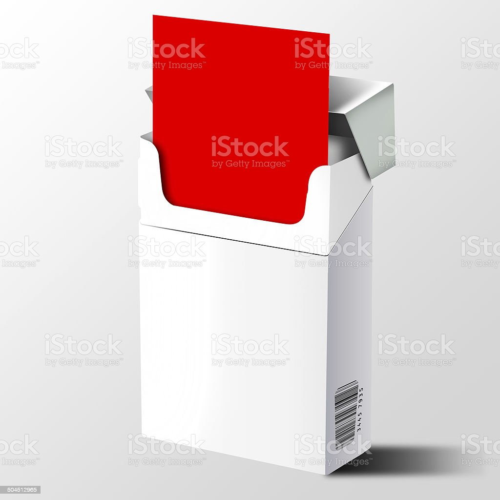 Ciagarette pack with red card stock photo