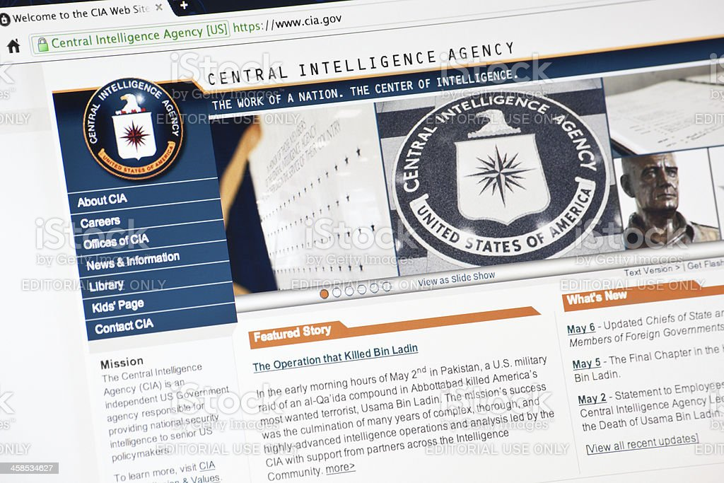 CIA.gov Web Site Hompage stock photo